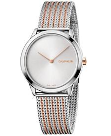 Women's Minimal Two-Tone Stainless Steel Bracelet Watch 35mm