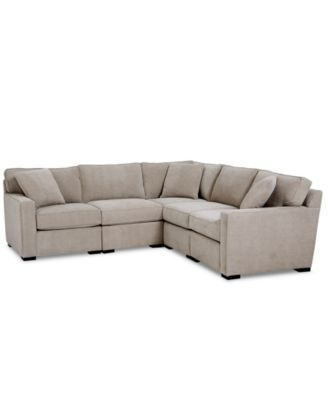 Radley Fabric 5-Pc. Sectional Sofa with Corner Piece, Created for Macy's