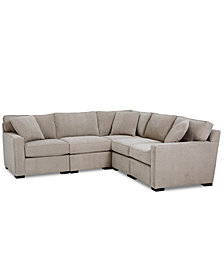 Radley Fabric 5-Pc. Sectional Sofa with Corner Piece - Custom Colors, Created for Macy's