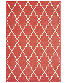 "Oriental Weavers Barbados 5996S Pink/Ivory 6'7"" x 9'6"" Indoor/Outdoor Area Rug"