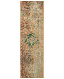 "Oriental Weavers Dawson 8324A Rust/Gold 2'3"" x 7'6"" Runner Area Rug"