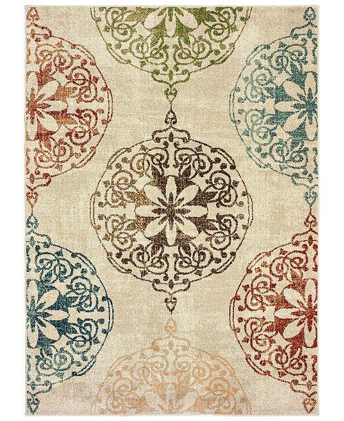 "Oriental Weavers Dawson 8522 7'10"" x 10'10"" Area Rug"