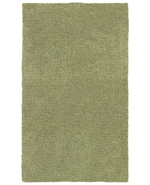 "Oriental Weavers Heavenly Shag 73403 Green/Green 6'6"" x 9'6"" Area Rug"