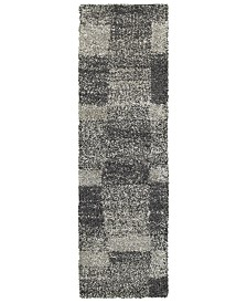 "Oriental Weavers Henderson Shag 531Z1 Gray/Charcoal 2'3"" x 7'6"" Runner Area Rug"