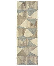 """Oriental Weavers Infused 67004 Beige/Gray 2'6"""" x 8' Runner Area Rug"""