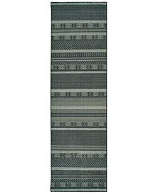 """Oriental Weavers Luna 1802K Black/Ivory 2'3"""" x 7'6"""" Runner Area Rug"""