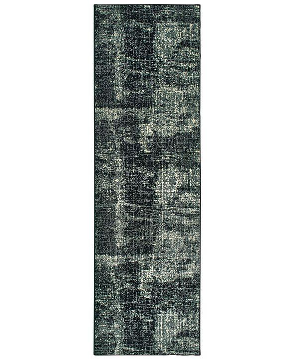 """Oriental Weavers Luna 1805K Black/Ivory 2'3"""" x 7'6"""" Runner Area Rug"""