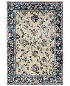 """Oriental Weavers Pandora 1802E Ivory/Blue 6'7"""" x 9'6"""" Area Rug"""