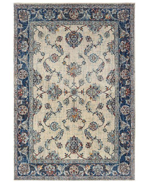 """Oriental Weavers Pandora 1802E Ivory/Blue 7'10"""" x 10'10"""" Area Rug"""