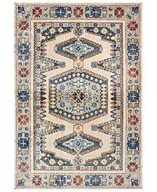"""Oriental Weavers Pandora 5991I Ivory/Blue 6'7"""" x 9'6"""" Area Rug"""