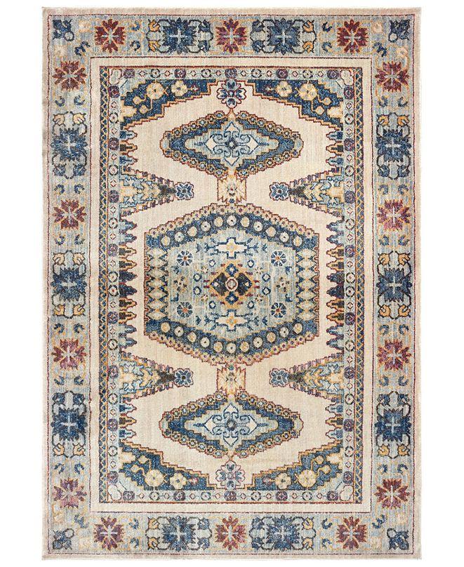 """Oriental Weavers Pandora 5991I Ivory/Blue 5'3"""" x 7'6"""" Area Rug"""