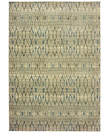 "Raleigh 1807H Ivory/Blue 3'10"" x 5'5"" Area Rug"