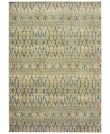 "Oriental Weavers Raleigh 1807H Ivory/Blue 9'10"" x 12'10"" Area Rug"