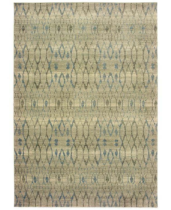 "Oriental Weavers Raleigh 1807H Ivory/Blue 7'10"" x 10'10"" Area Rug"