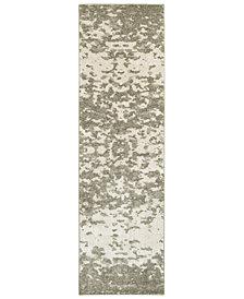 "Oriental Weavers Rowan 190E Ivory/Gray 2'3"" x 7'6"" Runner Area Rug"