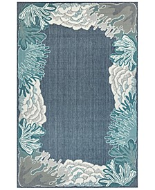 "Riviera 7638 Reef Border 7'10"" x 9'10"" Indoor/Outdoor Area Rug"
