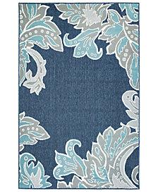 """Liora Manne' Riviera 7648 Ornamental Leaf 7'10"""" Indoor/Outdoor Round Area Rug"""