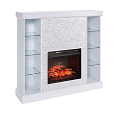 Ivey Mosaic Tiled Curio Fireplace