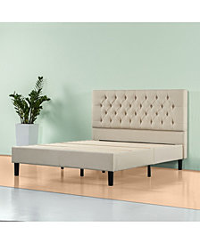 Zinus Upholstered Modern Classic Tufted Platform Bed Frame - No Box Spring Needed