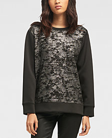 DKNY Metallic-Detail Top, Created for Macy's