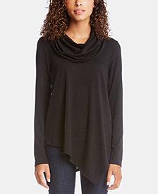 Karen Kane Cowlneck Asymmetrical-Hem Sweater