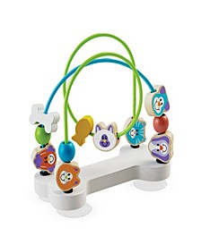 Melissa & Doug First Play Pets Wooden Bead Maze with Suction Cups For Babies and Toddlers