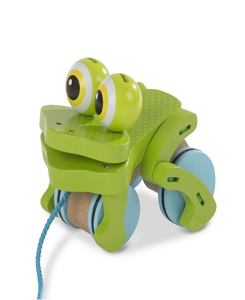 Melissa and Doug Melissa & Doug First Play Frolicking Frog Wooden Pull Toy