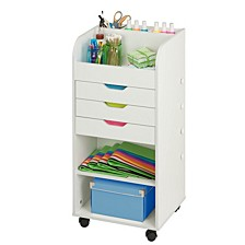 Rolling Craft Cart with Drawers