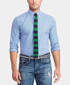 Polo Ralph Lauren Men's Big & Tall Classic Fit Plaid Cotton Poplin Shirt