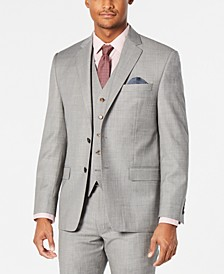 Men's Classic-Fit UltraFlex Stretch Light Gray Stepweave Suit Jacket