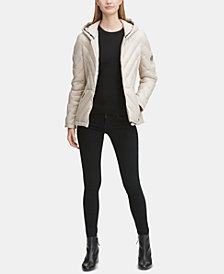 DKNY Hooded Puffer Coat, Created for Macy's