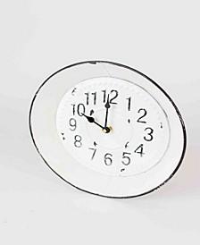 Enamelware Round Clock