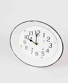 Kalalou Enamelware Round Clock
