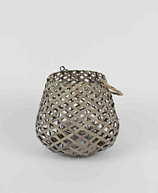 Kalalou Small Willow Lantern w/Wire Frame And Glass