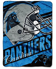 Carolina Panthers Micro Raschel Deep Slant Blanket