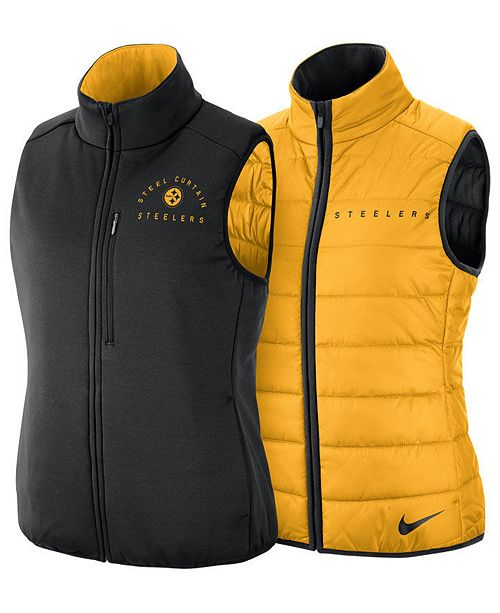 separation shoes c2bd6 31ad8 Nike Women's Pittsburgh Steelers Reversible Vest & Reviews ...