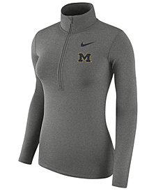 Nike Women's Michigan Wolverines Hyperwarm Quarter-Zip Pullover