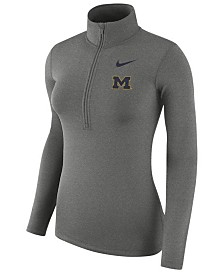 Nike Women's Michigan Wolverines Hyperwarm Quarter-Zip Pullover