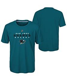 Outerstuff San Jose Sharks Avalanche T-Shirt, Big Boys (8-20)