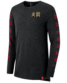 Nike Men's Houston Rockets City Elevated Long Sleeve Dry T-Shirt