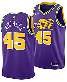 Nike Men's Donovan Mitchell Utah Jazz Hardwood Classic Swingman Jersey