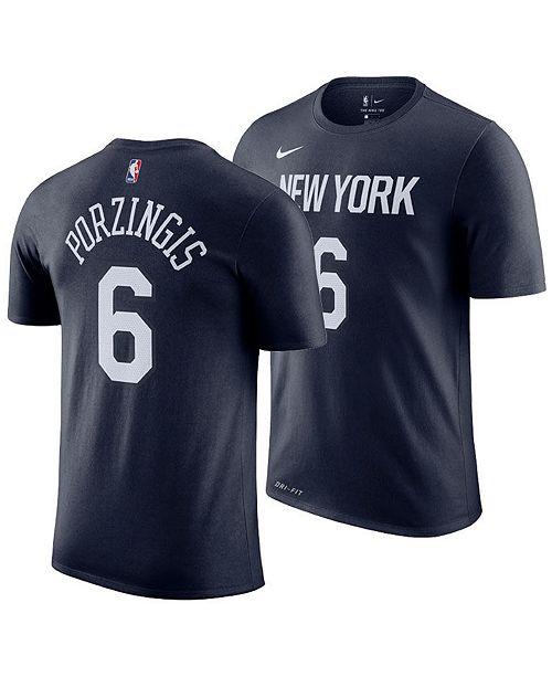 1db5ae01f ... Nike Men s Kristaps Porzingis New York Knicks City Player T-Shirt ...