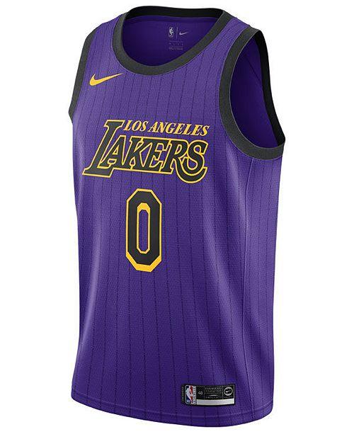 b8a8d82db Nike Kyle Kuzma Los Angeles Lakers City Edition Swingman Jersey 2018 ...