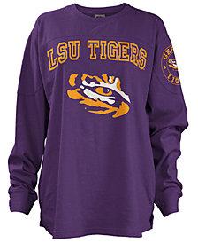 Pressbox Women's LSU Tigers Long Sleeve Boyfriend T-Shirt