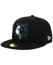 New Era Minnesota Timberwolves Hardwood Classic Nights 59FIFTY Fitted Cap