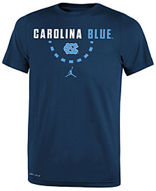 Jordan North Carolina Tar Heels Basketball Legend Logo T-Shirt 2018, Big Boys (8-20)