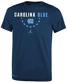 Jordan North Carolina Tar Heels Basketball Legend Logo T-Shirt 2018, Big Boys (8-20)