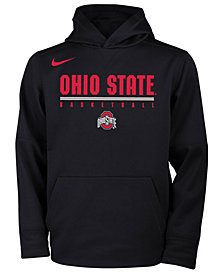 Nike Ohio State Buckeyes Therma Hooded Sweatshirt, Big Boys (8-20)