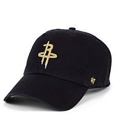Houston Rockets Met Gold CLEAN UP Cap