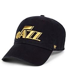 Utah Jazz Met Gold CLEAN UP Cap